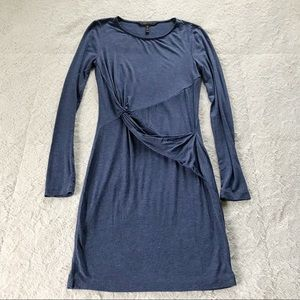 BCBGMaxAzria Navy Blue Wrap Detail Dress